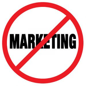 no marketing