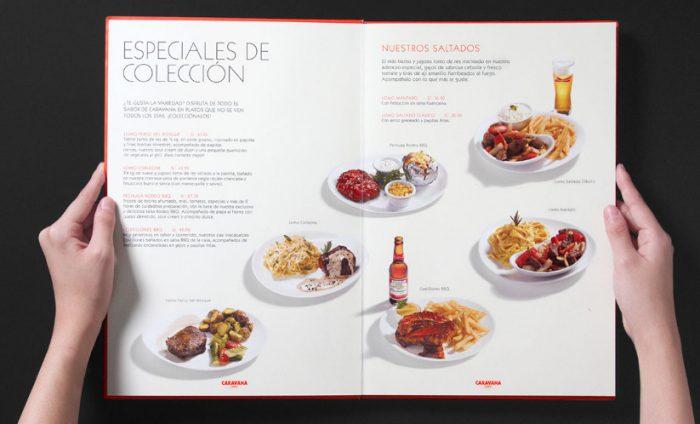 como diseñar la carta de un restaurante