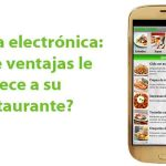 carta digital o electrónica para restaurantes