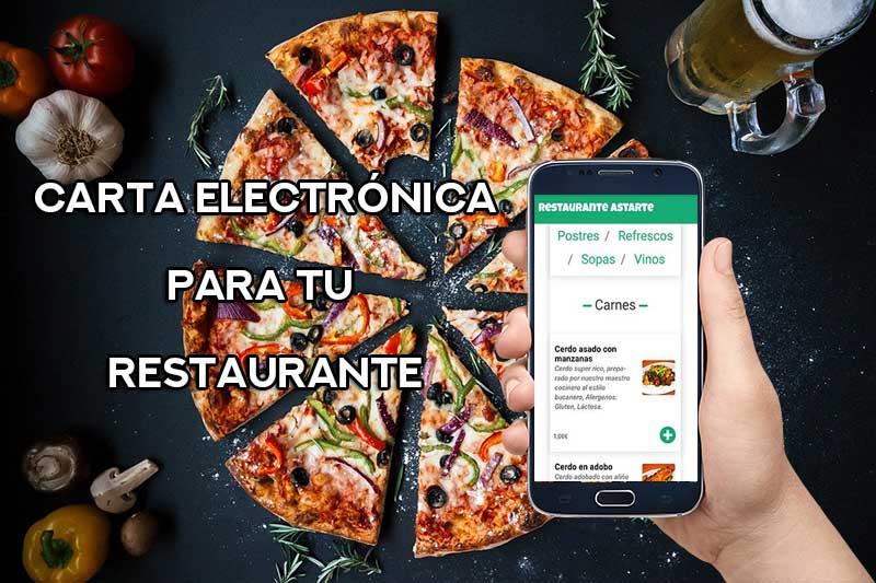 carta electronica digital para restaurantes