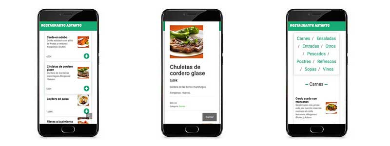 carta movil restaurantes
