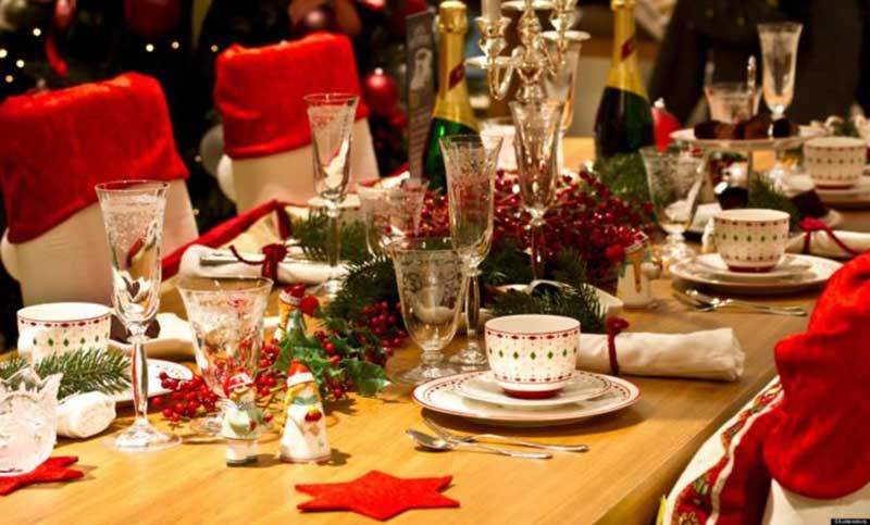 restaurante decorado para navidad